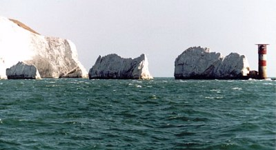 The Needles rock and Lighthouse